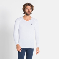 Shirt l/s v-neck ACTIVE WARM ECO, white, large