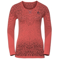 Haut BL col ras du cou manches longues BLACKCOMB LIGHT, dubarry - fiery coral, large