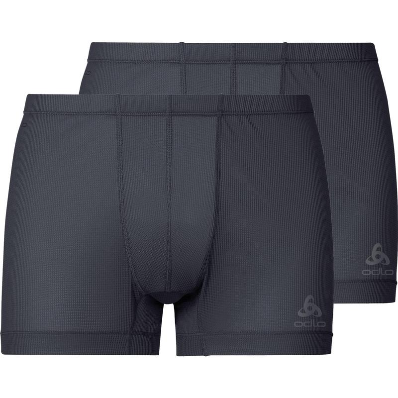 Boxer sportivi ACTIVE CUBIC LIGHT da uomo confezione da 2, ebony grey - black, large