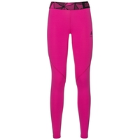 Ceramicool Pro baselayer pants women, pink glo - peacoat, large