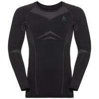 Herren PERFORMANCE EVOLUTION WARM Funktionsunterwäsche Langarm-Shirt, black - odlo graphite grey, large