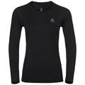 Damen NATURAL 100% MERINO WARM Funktionsunterwäsche Langarm-Shirt, black - black, large