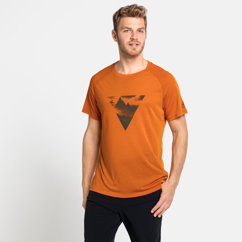 CONCORD ELEMENT-T-shirt voor heren, marmalade - graphic SS21, large