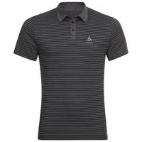 Polo shirt s/s SIGNO, odlo graphite grey - black - stripes, large
