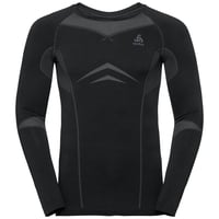 PERFORMANCE EVOLUTION WARM-basislaagtop met lange mouwen voor heren, black - odlo graphite grey, large
