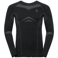 Herren PERFORMANCE EVOLUTION WARM Sportunterwäsche Langarm-Shirt, black - odlo graphite grey, large