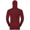 SUW Top Active Revelstoke Warm langärmeliges Oberteil mit Gesichtsmaske, syrah - fiery red, large
