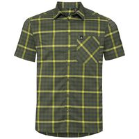 Shirt NIKKO CHECK, four leaf clover - acid lime - climbing ivy - check, large