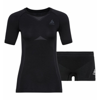 Women's PERFORMANCE EVOLUTION Light Base Layer Set, black - odlo graphite grey, large