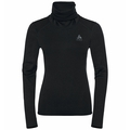 Women's ACTIVE THERMIC Turtleneck Baselayer, black melange, large