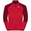 Men's PLANCHES 1/2 Zip Midlayer, chinese red - red dahlia, large