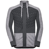 SKADI LIGHT-tussenlaagjas voor heren, grey melange - odlo graphite grey, large