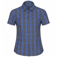 Camicia Mythen, amparo blue - grey melange - check, large