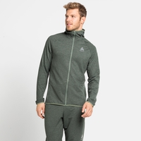 Herren RUN EASY 365 Midlayer-Kapuzenjacke, climbing ivy, large