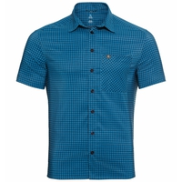 Camicia Nikko da uomo, blue aster - diving navy - check, large