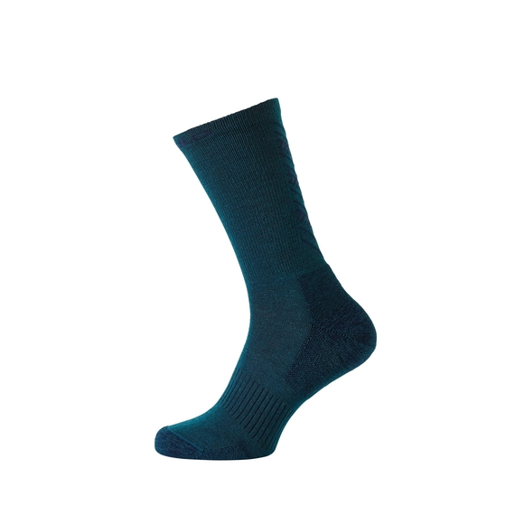 Chaussettes hautes Natural + Warm, blue coral - diving navy, large