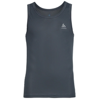 SUW TOP Crew neck Singlet ACTIVE Cubic LIGHT, ebony grey - black, large