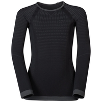 PERFORMANCE WARM KIDS Baselayer-Oberteil, black - odlo graphite grey, large
