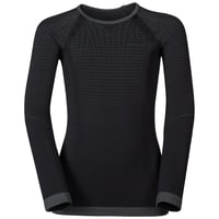 PERFORMANCE WARM KIDS' Long-Sleeve Baselayer Top, black - odlo graphite grey, large