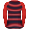ACTIVE WARM KIDS Long-Sleeve Baselayer Top, poinciana - diving navy - stripes, large