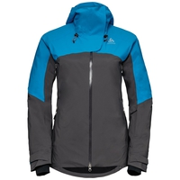 SLY X isolierende Skijacke, blue jewel - odlo graphite grey, large