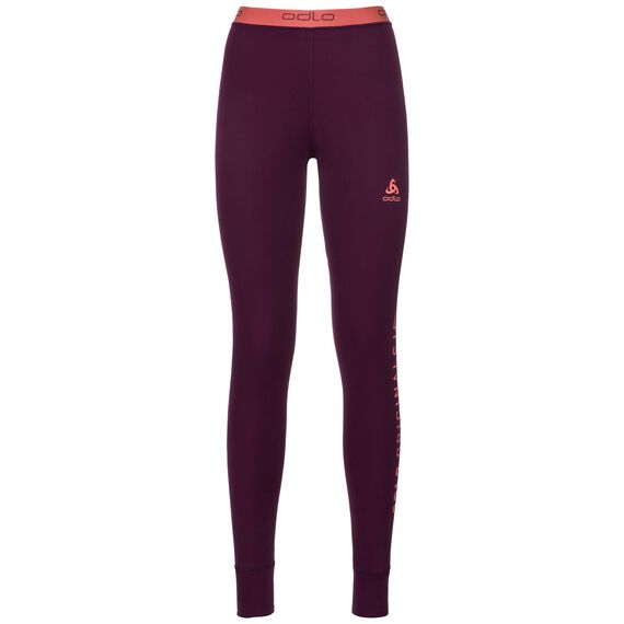 Revelstoke Warm baselayer pants women, pickled beet - hot coral, large