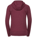 Hoody midlayer full zip Core, rumba red melange, large