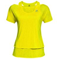 HOLOGRAM 2-in-1 T-shirt s/s, blazing yellow, large