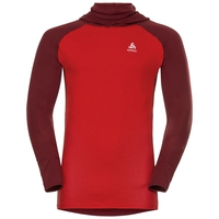 SUW Top with Facemask l /s ACTIVE  Revelstoke Warm, syrah - fiery red, large
