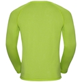 T-shirt l/s AION, acid lime melange - placed print SS18, large