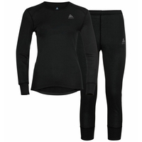 Damen ACTIVE WARM ECO 3/4-langes Baselayer Set, black, large