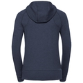 Hoody midlayer full zip Core, diving navy melange, large