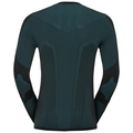 Men's PERFORMANCE WINDSHIELD CYC LIGHT Cycling Base Layer Long-Sleeve Top, black - lake blue, large