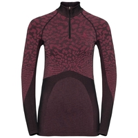 Women's BLACKCOMB 1/2 Zip Turtle-Neck Long-Sleeve Base Layer Top, black - cerise - cerise, large