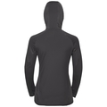 Women's BLAZE CERAMIWARM 1/2 Zip Midlayer Hoody, black - odlo graphite grey - stripes, large