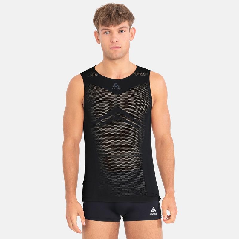 Men's PERFORMANCE BREATHE X-LIGHT Cycling Sports-Underwear Singlet, black, large