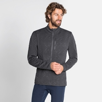 Top midlayer con zip intera CORVIGLIA KINSHIP da uomo, odlo graphite grey, large