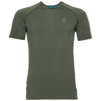 Men's PERFORMANCE WARM Base Layer T-Shirt, climbing ivy - agave green, large