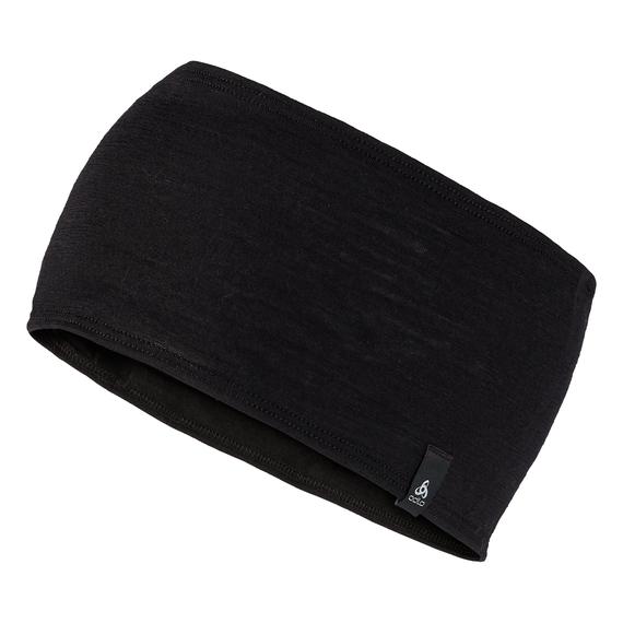 Bandeau NATURAL 100% MERINO WARM, black, large