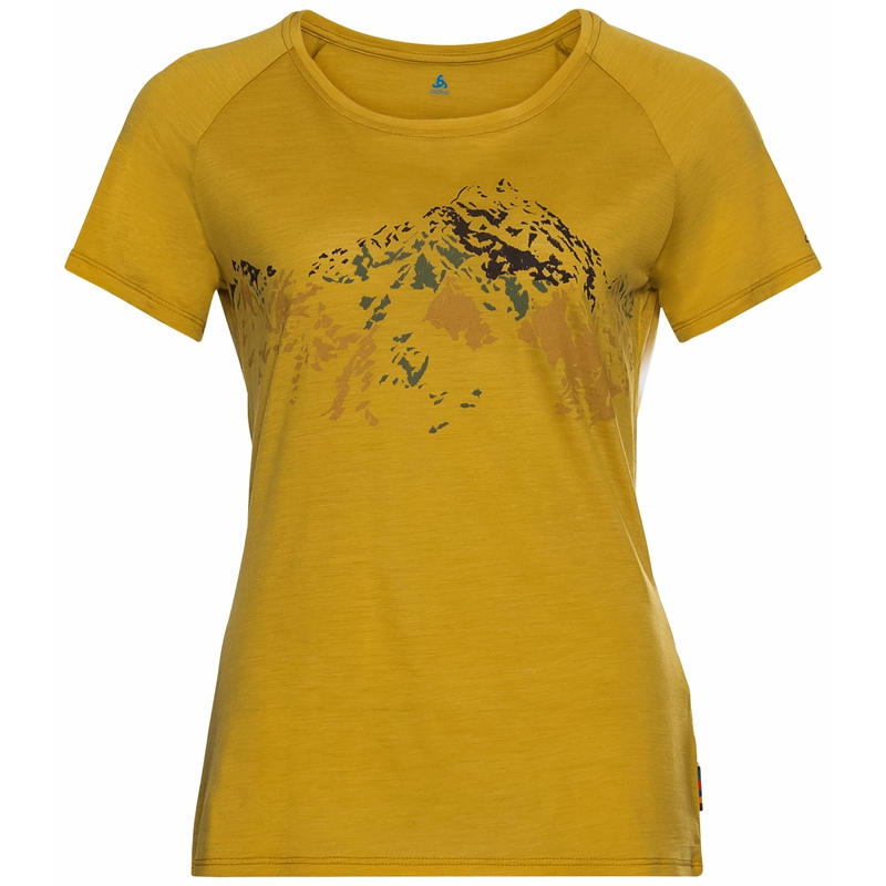 Concord Summit Print T-shirt, nugget gold, large