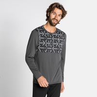 T-shirt a manica lunga NILLIAN da uomo, odlo graphite grey - graphic FW20, large