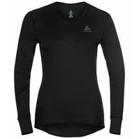 ACTIVE WARM ECO-basislaagtop met V-hals voor dames, black, large