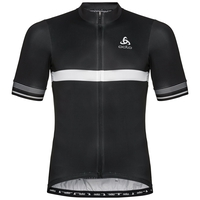 Men's ZEROWEIGHT CERAMICOOL Short-Sleeve Cycling Jersey, black, large