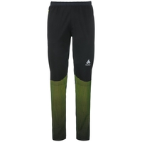 Pants STRYN PRINT, black - safety yellow, large