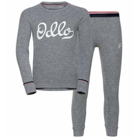 Sous-vêtement technique T-shirt manches longues ACTIVE WARM Heritage  KIDS, grey melange - placed print FW19, large