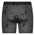 Men's ACTIVE EVERYDAY Boxers  2-Pack, odlo graphite grey - outdoor AOP SS19 - black, large