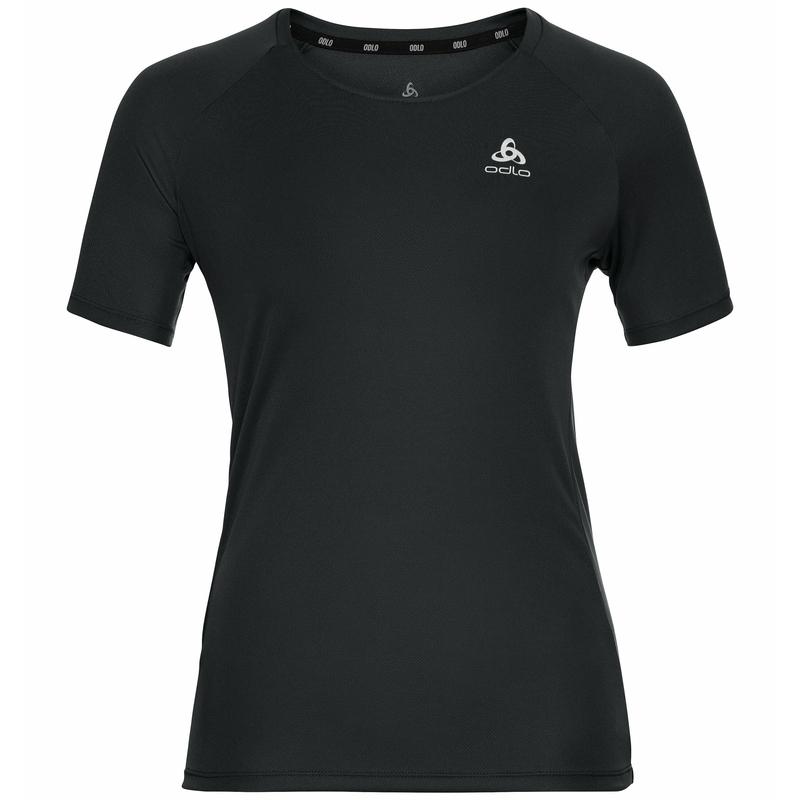 Women's ESSENTIAL Running T-Shirt, black, large