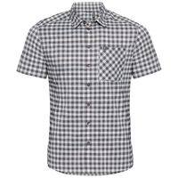 Shirt k/m NIKKO CHECK, odlo silver grey - odlo steel grey - snow white - check, large