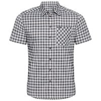 Shirt s/s NIKKO CHECK, odlo silver grey - odlo steel grey - snow white - check, large
