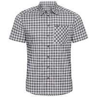 Shirt NIKKO CHECK, odlo silver grey - odlo steel grey - snow white - check, large